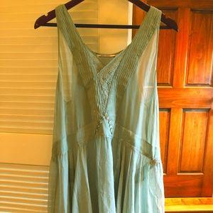 Dresses & Skirts - Sheer Light Green Flapper Dress